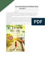 Escritos en Prosa Latinoaméricana Miami Book Fair 2017
