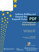 Audience Building and Financial Health in the Nonprofit Performing Arts
