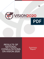Report Vision 2020 National Stakeholder Consultation_August 2016
