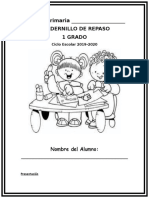 Cuadernillo Para Ingreso a Primer Grado 2019-2020