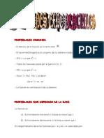 Matematicas Resueltos (Soluciones) Funciones Exponenciales Nivel I 1º Bachillerato