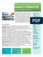 st saviours newsletter - 22 sept 2019 - trinity 14  ot25