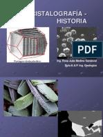 Cristalografia[ Clase 1 Orígen Historia 1