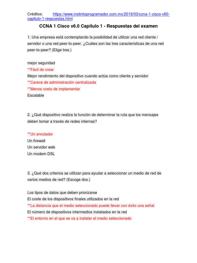 Ccna 1 Cisco V6 0 Capitulo 1 Respuestas Del Examen Internet Computacion En La Nube