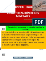 características del mineral