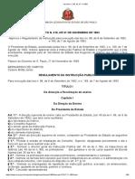 Decreto 218, De 27.11.1893 - Regulamento Da Instrução Pública (Diretor Arts 318 e Ss)