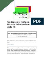 Ciudades Del Mañana - Resumen