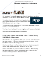 Singapore City Harvest Megachurch Leaders Guilty of Fraud - BBC News