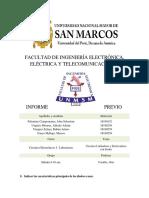CIRCUITOS ELECTRÓNICOS 1 INFORME PREVIO 3 FIEE UNMSM 2019