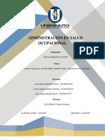 Cuadro Comparativo Iso 45001, Oshas 18001, Resolución 0312 de 2019