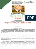 Ruta de Mejora Puente 2017-2018