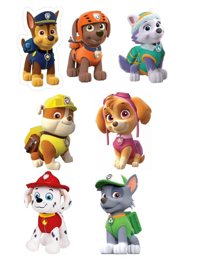 personajes de paw patrol