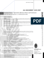 AIA Document A101-1997