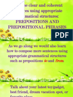 Prepositions and Prepositional Phrases to and From