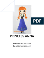 Patrón Amigurimi princesa ana