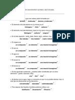 Examen Diagnostico Quimica Secundaria