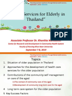 Health Services for Older Population in Thailand
