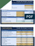 Google Ads Budget Calculator