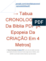 → Tabua CRONOLOGICA Da Biblia PDF [A Epopeia Da CRIAÇÃO Em 4 Metros]