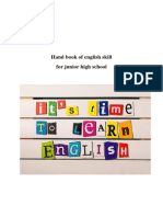 Hand Book of English Skill for Junior High School