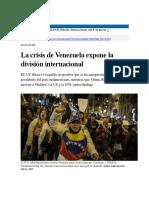 01 La Crisis de Venezuela Expone La División Internacional _ Internacional _ EL PAÍS