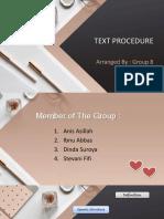 Precetation About Procedure Text