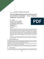 High Hybrid Reinforced Soil Slope as Runway Support - Tana Toraja Airport Case Study