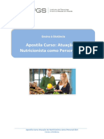 Atuação Do Nutricionista Com o Personal Diet