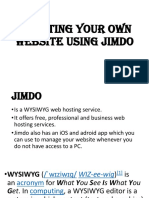 Creating Your Own Website Using Jimdo