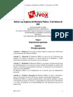 PENAL- Ley 2175 Organica Del MP (Abrogada)