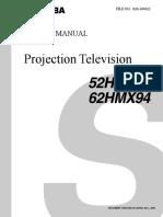 Toshiba 52-62hmx94svm Service Manual