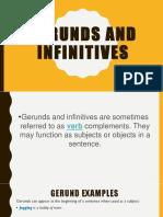 Gerund and Infinitives