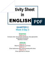 Activity Sheet in English 6 Quarter 2 We (7)