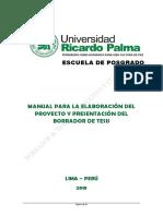 Manual Del Proyecto y Desarrollo Del Borrador de Tesis EPG
