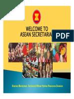 Sosialisasi Peluang Kerja WNI Di OI ASEAN Secretariat Presentation