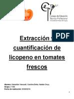 Extraccion en Licopeno en Tomates