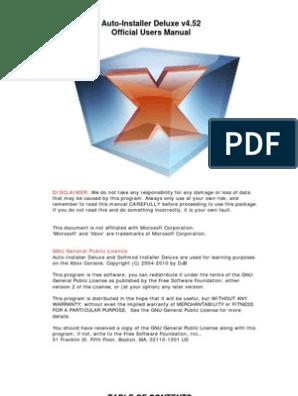 Auto Installer deluxe v4 52 Manual | Bios | Booting