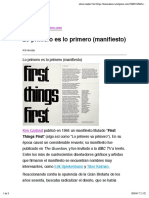Lo Primero Es Lo Primero (Manifiesto)