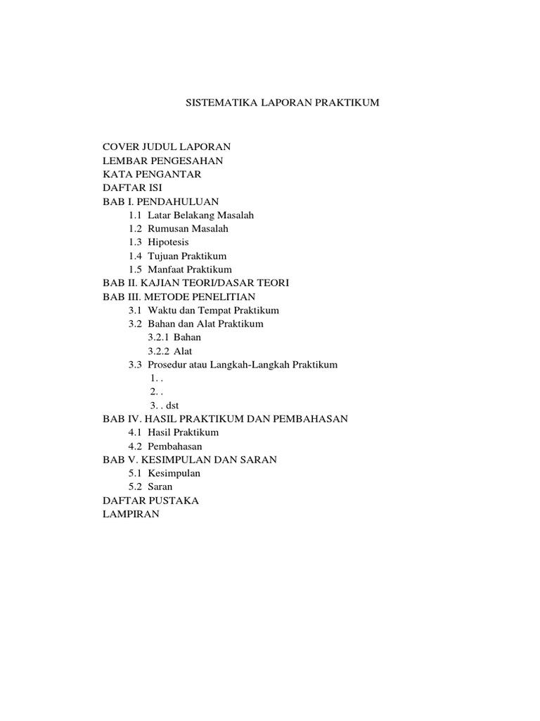 A Sistematika Laporan Praktikum Biologi