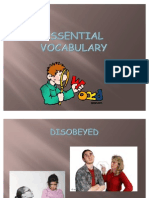 Essential Vocabulary (a Woman Out of Her Time)
