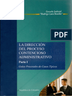 DIRECCION DEL PROCESO CONTENCIOSO ADMINISTRATIVO CASOS I.pdf