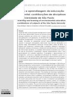 Educação Ambiental - contribuições de disciplinas da USP