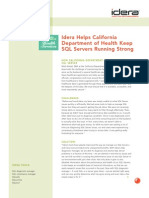 Idera Helps California Department of Health Keep SQL Servers Running Strong