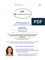 SFA Newsletter September 2019