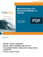 Best Practices for Deploying MySQL on the Solaris Platform