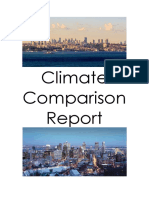 Humanities Climate Comparison