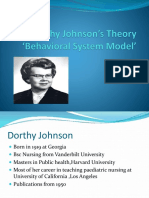 Dorothy Johnson's Theory 'Behaviour Model'