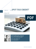 Note on GST Input Tax Credit CA Yashwant Kasar (1)