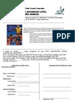 ITTF Advanced Coaching Manual Order Form