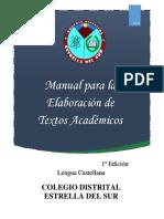 Manual para la elaboración de textos académicos